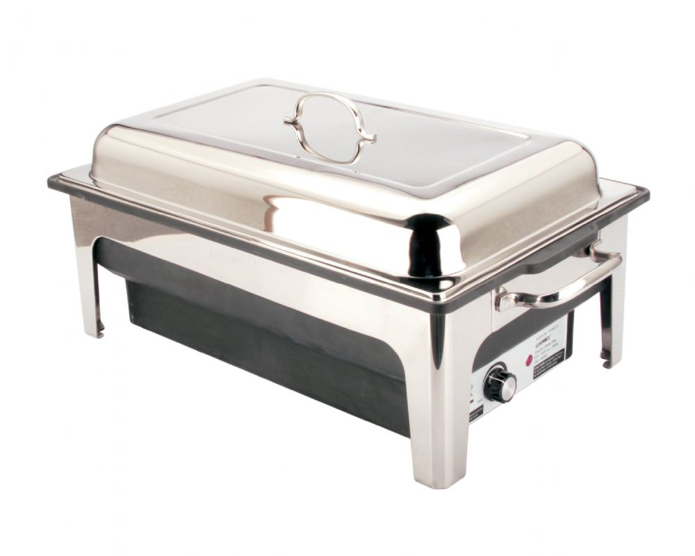 electric chafer 13 5 ltr chafing dish set for safe odour free hot food. Black Bedroom Furniture Sets. Home Design Ideas