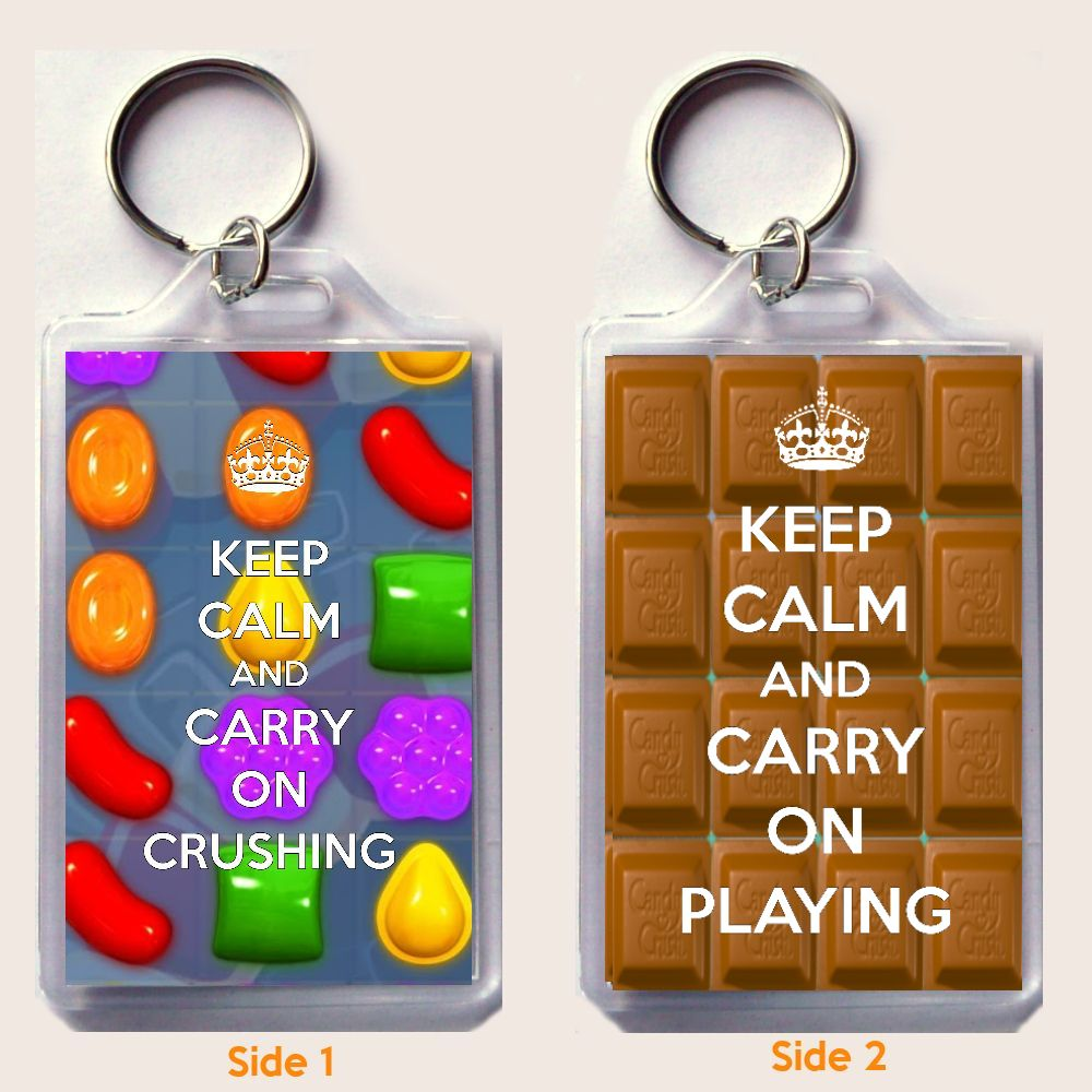 ON CRUSHING Keyring, a unique gift idea for a Candy Crush Saga Fan