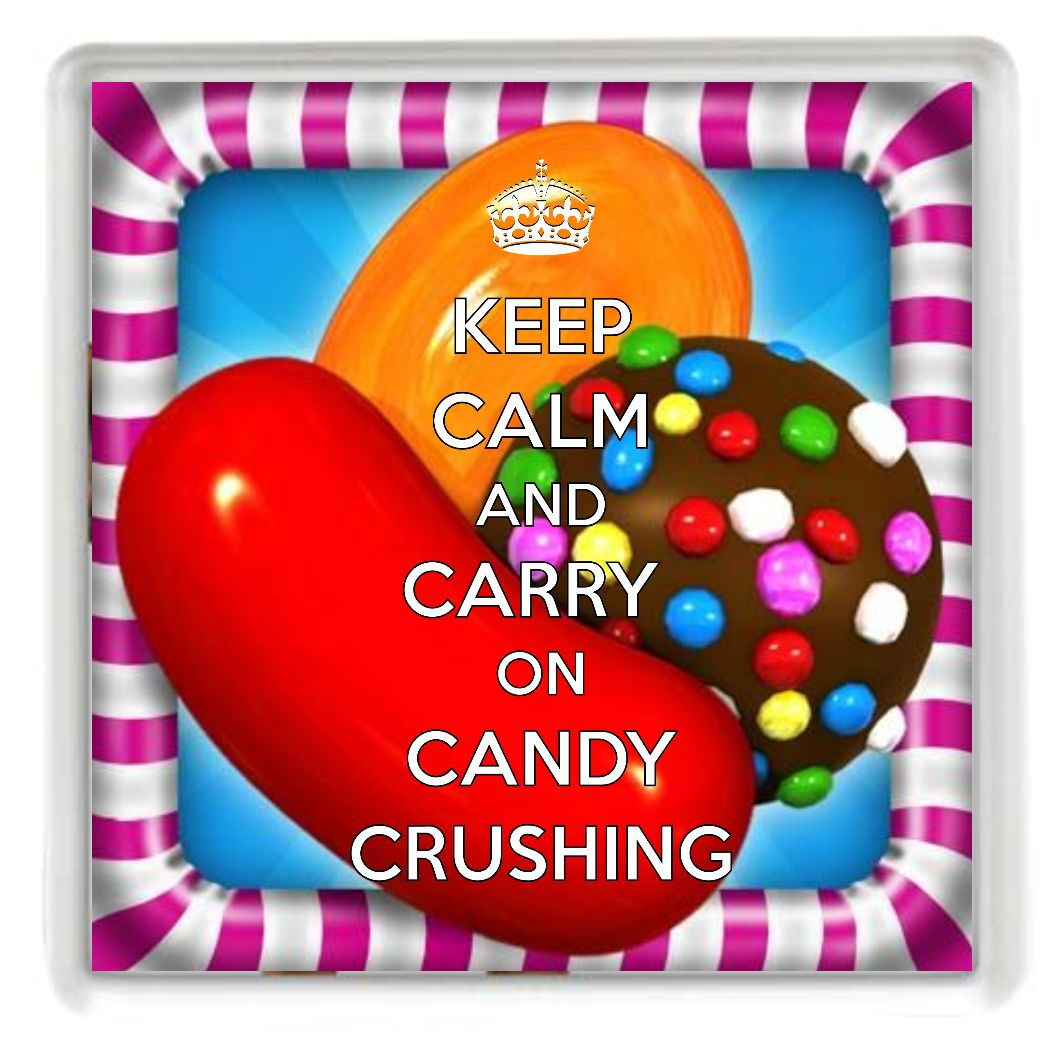CANDY CRUSHING Drinks Coaster, a unique gift idea for a Candy Crush
