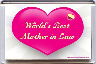 World S Best Mother In Law Fridge Magnet A Unique Birthday Wedding Day Gift