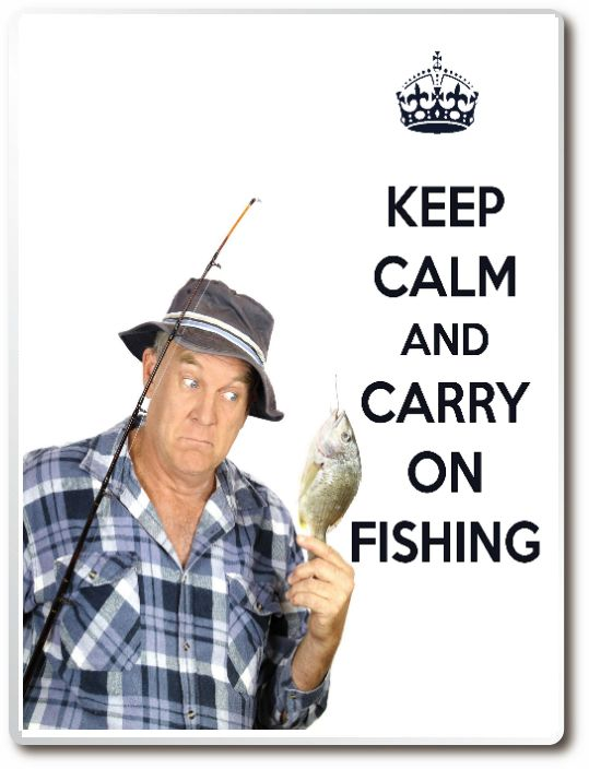 Keep Calm And Carry On Fishing Drinks Coaster Wall Plaque